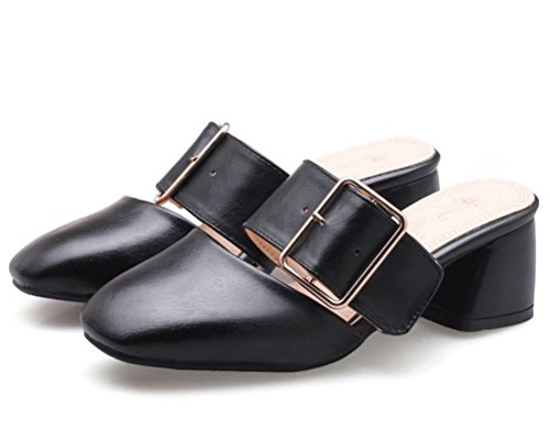 HiTime Mules Noir Femme HiTime Mules qYrq7O