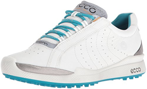 ECCO Women's Biom Hybrid Hydromax II Golf Shoe, White/Capri Breeze, 36 EU/5-5.5 M US (Ecco Golf 36)