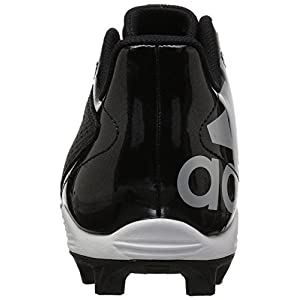 adidas Originals Unisex-Kids 5-Star Md Football Shoe, Black/White/Night Metallic, 5 M US Big Kid