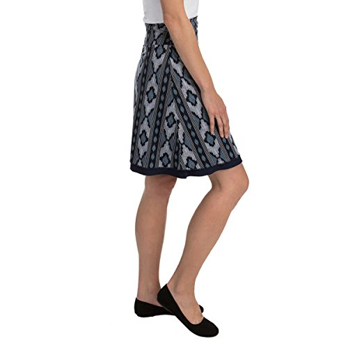 Colorado Clothing Tranquility Womens Reversible Skirt, Navy Pattern, Large