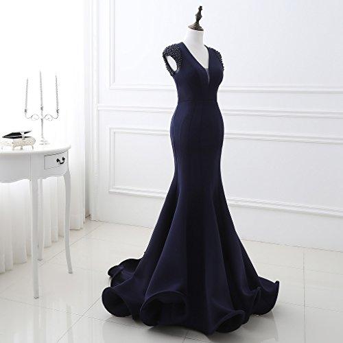Vimans -  Vestito  - fasciante - Donna Navy blue 46