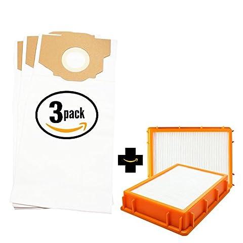 9 Replacement Eureka 4885BT Vacuum Bags & 2 HEPA Filter