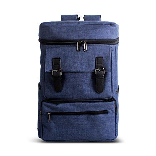 ZKOO Mochila Mujeres Hombres Lona Escolares Mochilas Backpack Multifunción Daypacks Laptop Bolsa Mochilas Bolsa De Hombro Casual Zafiro