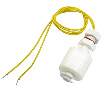 eDealMax Pecera Piscina Pilar Blanco Interruptor de flotador del Sensor del Control de nivel de agua