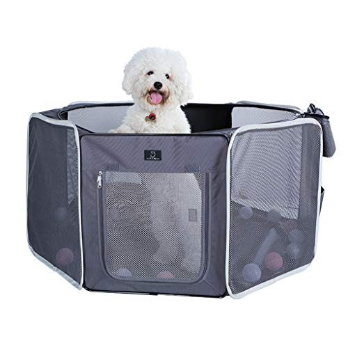 Houses & Habitats Pet Tent Small and Medium Pet Delivery Room Winter Warm Cat Litter Closed Cat Delivery Room Outdoor Collapsible Pet Fence Indoor Cat Play Fence (Color : Gray, Size : 11711754cm)