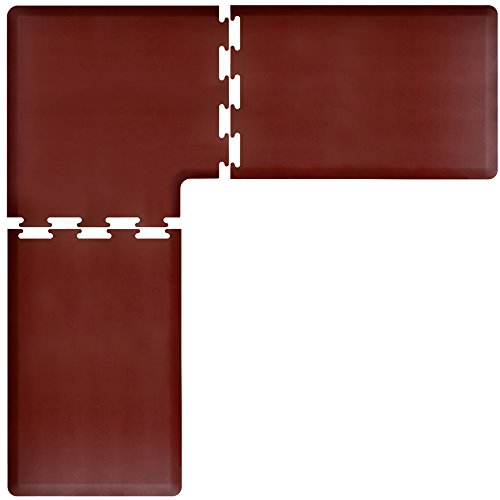 WellnessMats PuzzlePiece Collection L Series Burgundy Anti-Fatigue Mat, 7.5 x 7.5 Foot by WellnessMats