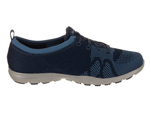 Skechers Womens Dreamtep Stima Bungee Lace Sneaker Blu / Blu