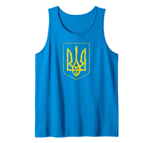 Ukraine Coat of Arms Country Trident Symbol Citizen Home Tank Top (Of Arms Ukraine Coat)