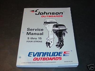 1997 OMC JOHNSON & EVINRUDE OUTBOARD 5 THRU 15 HP SERVICE MANUAL