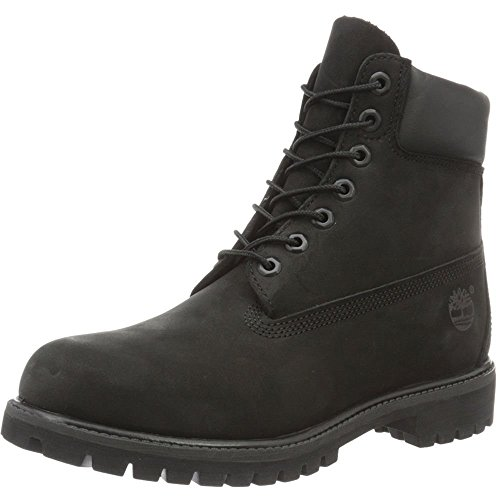 Nero Timberland Uomo Black Stivali Premium Smooth in 6 rqSq6OX