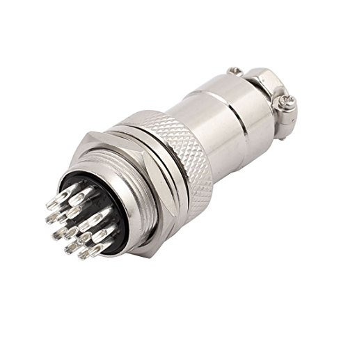 uxcell GX20-15 AC 250V 5A 15P 20mm Thread Metal Panel Male Aviation Connector Adapter