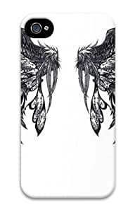 Iphone 4 4s 3D PC Hard Shell Case Wings Beauty by Sallylotus