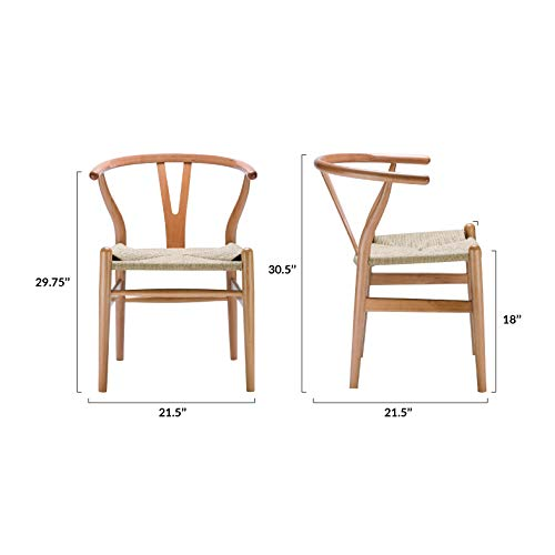 Poly and Bark Weave Chair in Natural (Set of 2) by Poly and Bark (Image #7)