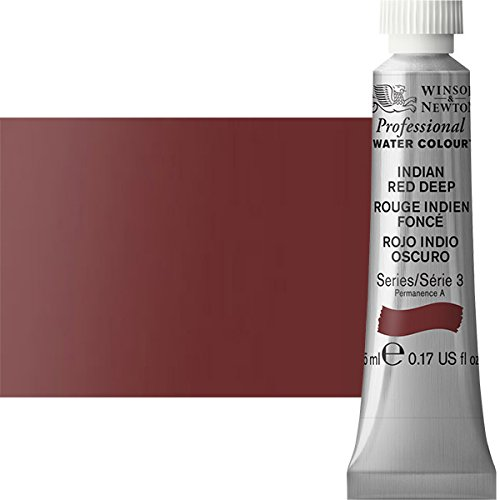 Red Ml Tube 5 (Winsor & Newton Professional Watercolor Limited Edition 5 ml Paint Tube - Indian Red Deep)