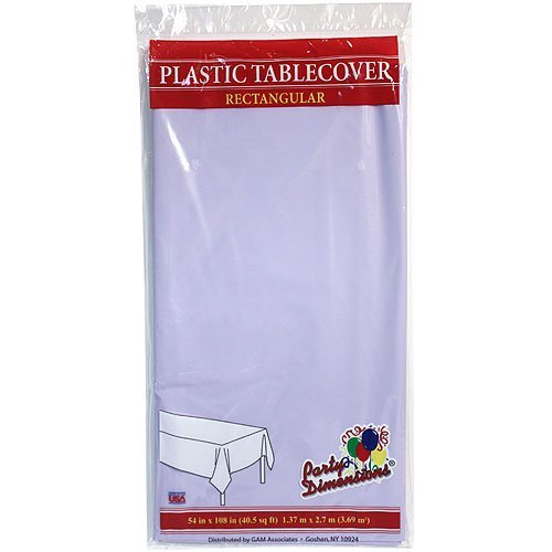 Plastic Party Tablecloths - Disposable, Rectangular Tablecovers - 8 Pack - Lavender - By Party (Party City Halloween Hours)