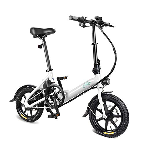 Leobtain Foldable Electric Bike, 1 Pcs Electric Folding Bike Foldable Bicycle Double Disc Brake Portable for Cycling(Arrived 3-7 Days)