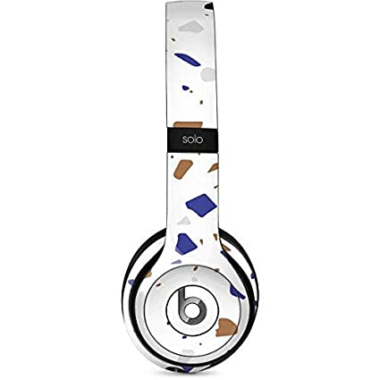 2f82223df84 Amazon.com: Skinit White Terrazzo Beats Solo 2 Wired Skin - Officially  Licensed Originally Designed Audio Decal - Ultra Thin, Lightweight Vinyl  Decal ...