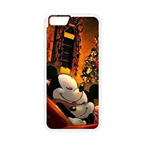 iPhone6 Plus 5.5 inch Phone Case White Disney Mickey Mouse Minnie Mouse VMN8161539