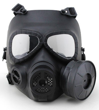 A&N Airsoft Full Face Toxic Gas Tactical Mask with Fan Wargame Cosplay Dress Up Halloween ()