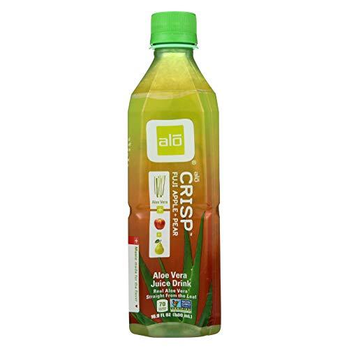 Alo Original Crisp Aloe Vera Juice Drink - Fuji Apple and Pear - Case of 12 - 16.9 fl ()