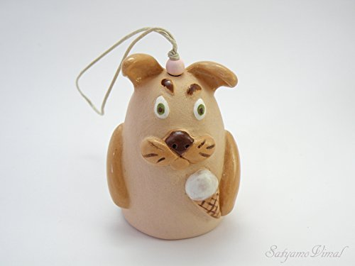 Handmade Ceramic Dog Bell - Home and Outdoor Wind Chimes (Dog Tag Chime Wind)