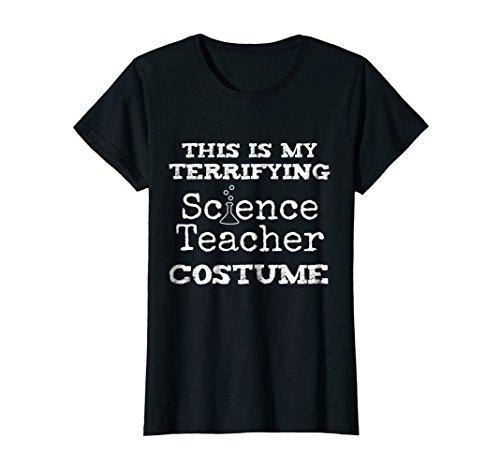 Womens Terrifying Science Teacher Halloween Costume T Shirt Large Black for $<!--$16.89-->