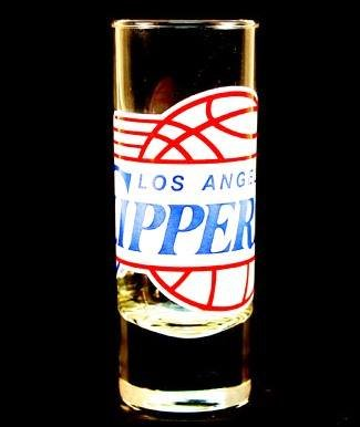 Los Angeles Clippers NBA Licensed Glass Cordial Logo Hype Shot Glass (2 Oz.) Team Logo