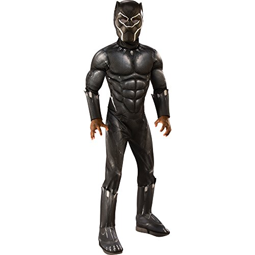 Rubie's Deluxe Black Panther Child's Costume, Grey, (Marvel Halloween Costume)