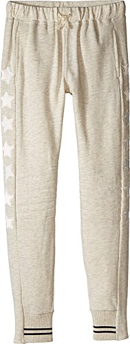 Pocket C&c California (C&C California Kids Girl's French Terry Slim Fit Jogger With Quilted Knees (Little Kids/Big Kids) Oat Heather Medium)
