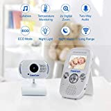 CasaCam BM100 Video Baby Monitor with Digital ClipCam, Two-Way Audio, Automatic Night Vision, Temperature Monitoring, Night Light and Lullabies