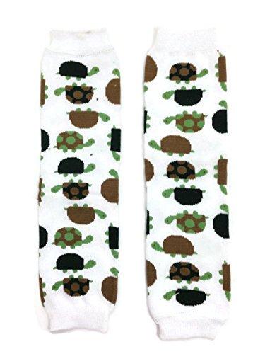 KWC - White Green Brown Tortoise Turtle Baby Leg Warmer/ Leggings ()