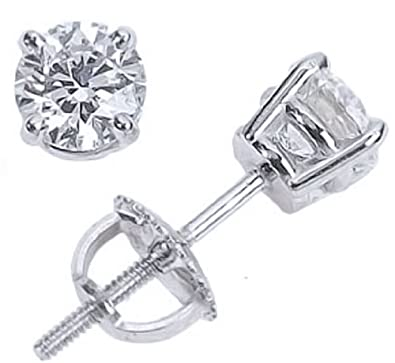 prism diamond back earring round product watches screw jewelry prong stud cut black set jewel