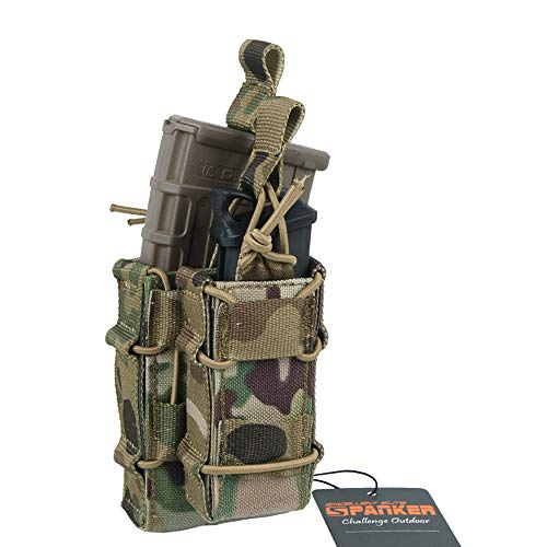 EXCELLENT ELITE SPANKER Open-Top Rifle Mag Pouch for M4 M16 AR15 Magazines with 1911 HK45 Glock Pistol Mag Pouch (MCP)