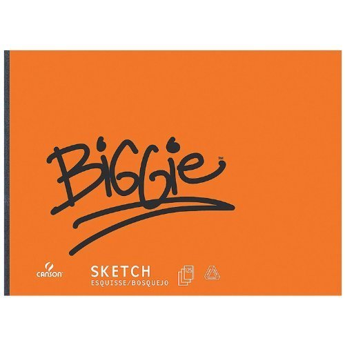 Canson Biggie Jumbo Sketch Pads Size 18 X 24 inch with 125 sheets by (Biggie Sketch Pad)