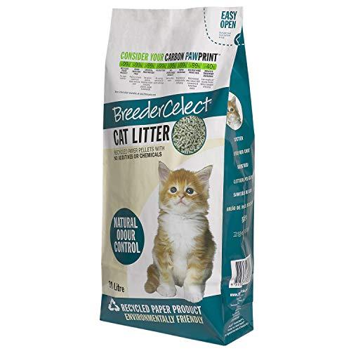 BreederCelect Breeder Celect Katzenstreu, biologisch abbaubar, Papier, 10 l