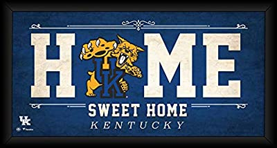 """Kentucky Wildcats Framed 10"""" x 20"""" Home Sweet Home Collage - College Player Plaques and Collages"""