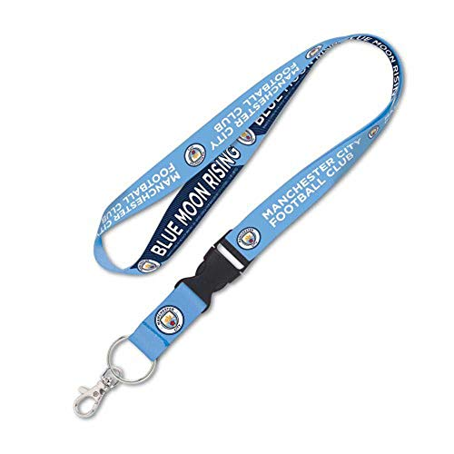 WinCraft Manchester City FC Blue Moon Rising Lanyard with Detachable Buckle, ()