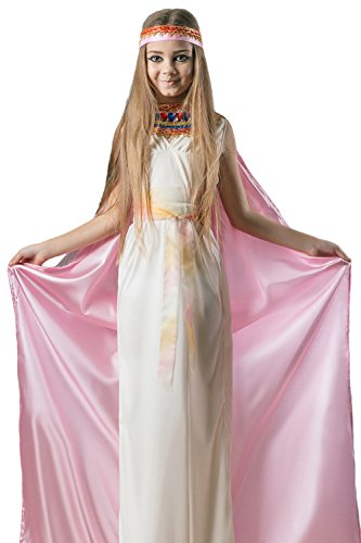 [Kids Girls Cleopatra Halloween Costume Egyptian Princess Dress Up & Role Play (6-8 years, white, pink,] (Nefertiti Halloween Costumes)