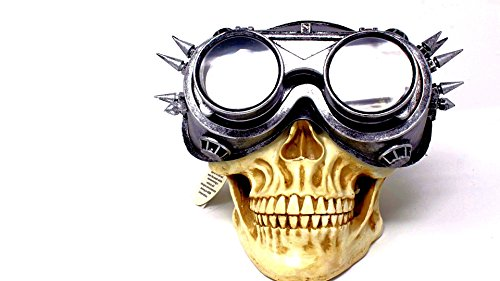 Steampunk Flip Aviator Goggles Apocalypse Goggle Sunglasses Cosplay Cyber Gothic (Silver) (Burning Man Halloween Costumes)