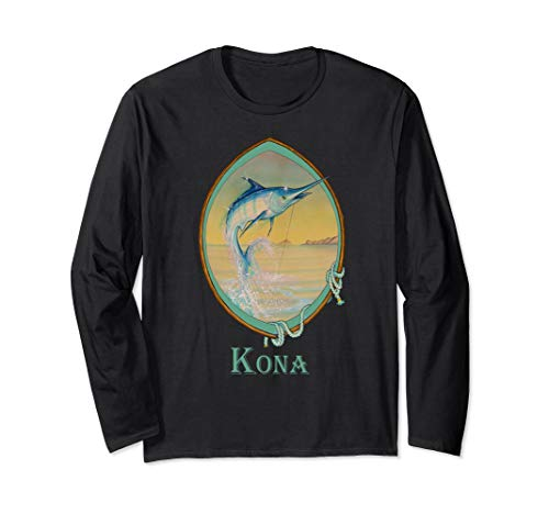 - Kona, Hawaii Blue Marlin Fisherman's Vacation Trip Long Sleeve T-Shirt