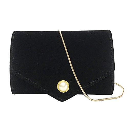 Messenger Pure Bag Wristlet Womens Shoulder Black Cross Color Bags Body Yuan Clutch gqtx85g
