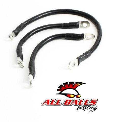 All Balls Battery Cable Kit - Black 79-3005-1