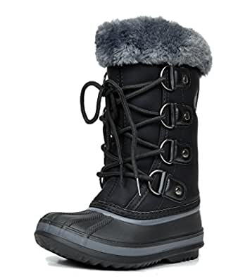 ARCTIV8 SYRACUSE New Kids Boys/Girls Casual Everyday Faux Fur Lining Padded Insole Lace/Zip Up Winter Outdoor Snow Skii Boots Black Size 9