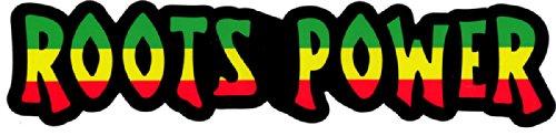 Roots Power – Reggae / Rasta Bumper Sticker / Decal (10