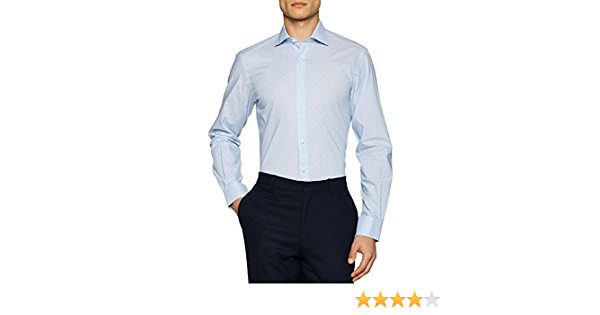 El Ganso Cuello Italiano Slim Fit Rayas Mas Topitos Camisa Casual para Hombre