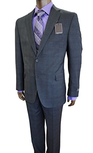 Jack Victor Gray Wool Deisgner Single Breasted 2 button Double Vent Suit
