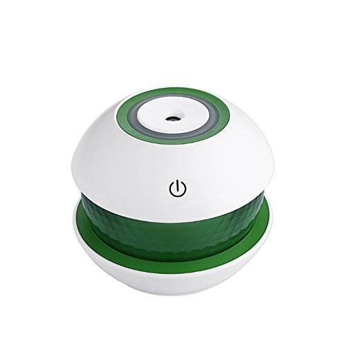 Asdf 150Ml Ultrasonic Mist Diffuser Small Air Humidifiers Usb Charge Touch Switch Whisper Quiet 7 Color Night Light Home Car Baby  Color   Green