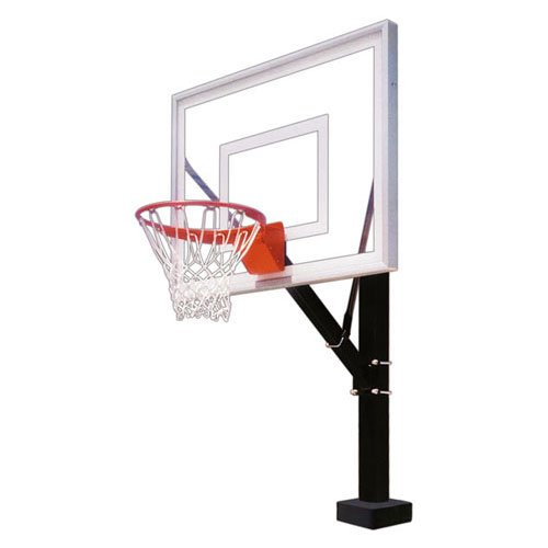 First Team HydroSport II Swimming Pool Side Basketball Hoop with 48 Inch Acrylic Backboard