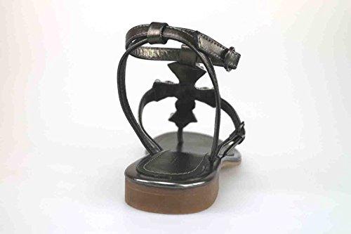 scarpe donna APEPAZZA sandali grigio scuro pelle AK624