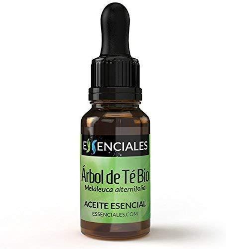 Essenciales - Aceite Esencial de Arbol de Te BIO, 100% Puro y con Certificado ECOLOGICO, 10ml | Aceite Esencial Melaleuca Alternifolia - Tonificante, Antiseptico y Antifungico